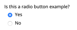 Default look of radio buttons