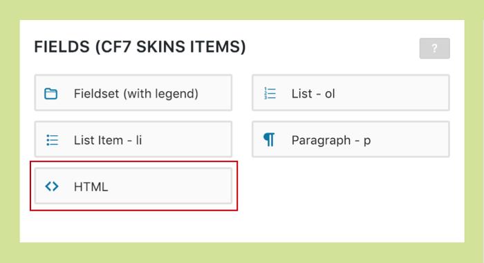 Step 2: Using HTML element