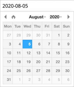 Datepicker in UI