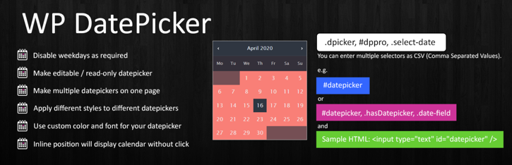 WP Datepicker plugin for Contact Form 7