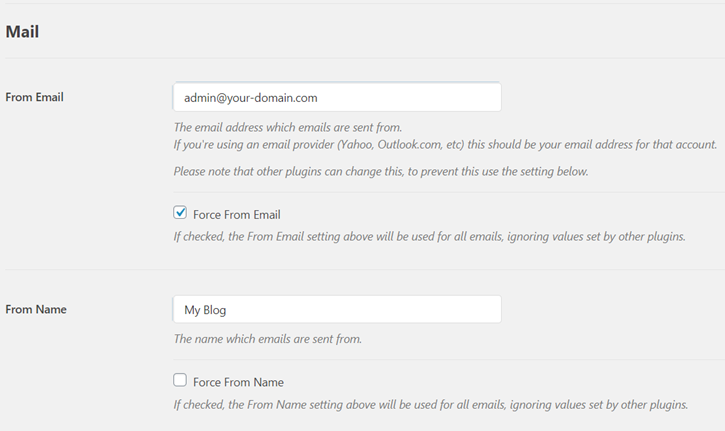 From Name and Email - WP Mail SMTP Settings - Setting up external email with contact form 7