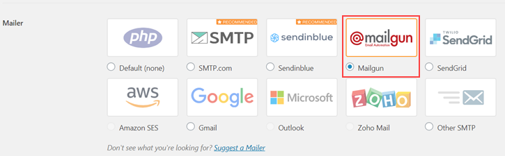 Mailer - WP Mail SMTP Settings - Setting up external email with contact form 7