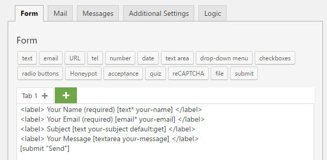 Using default values in CF7 - HTTP requests